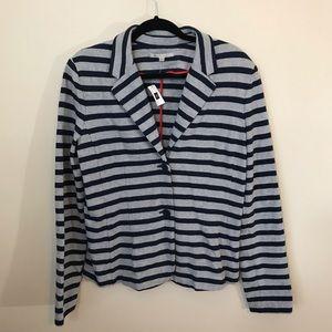 NWT Gap women's navy & gray cotton blazer med tall